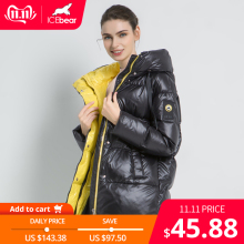 Jacket Clothing Hooded-Coat Parkas Female Warm Women Fashion High-Quality New Winter