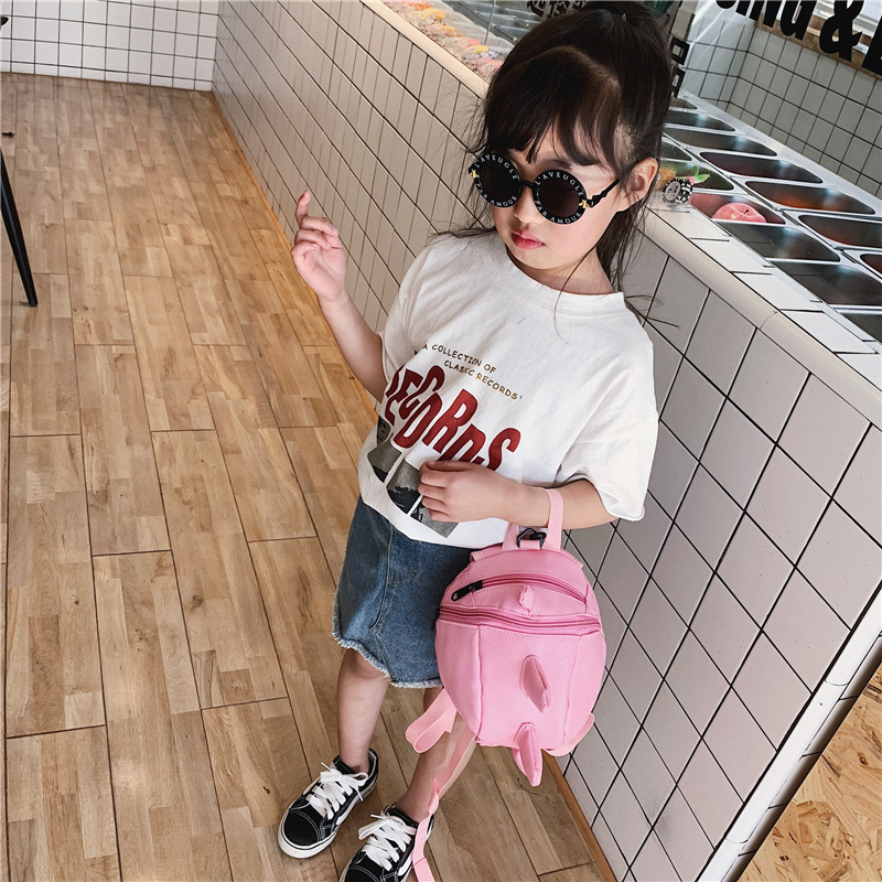 KID/'S Messenger Bag 2019 Korean-style Spring Fashion Dinosaur Shoulder Bag Trend Cute Adorable Baby Versatile Shoulder Bag