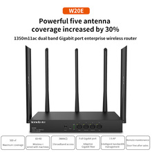 Wifi-Router Wi-Fi repeater Gigabit-Port Tenda W20e 5-Antennas Enterprise Wireless 3