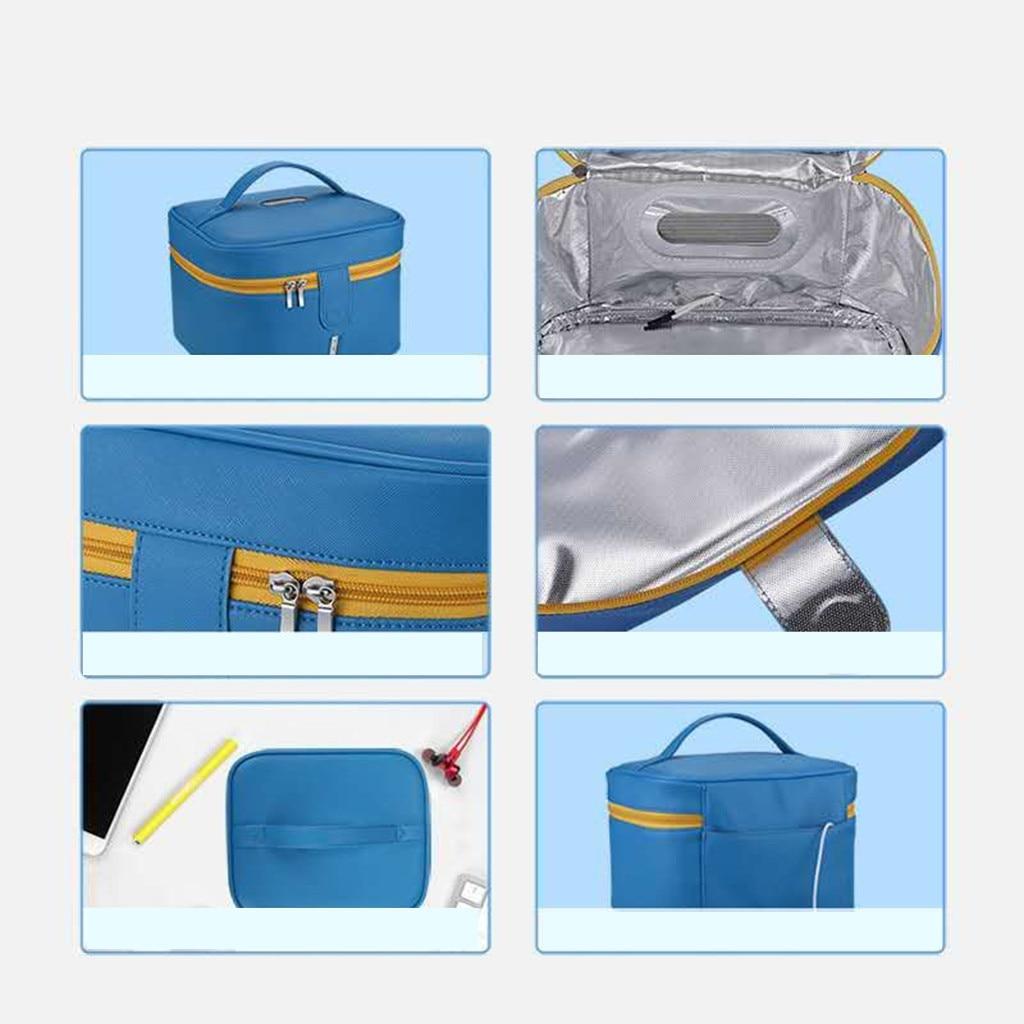 Accessories - Blue Disinfecting Box UV Sterilizer Box USB Disinfecting Bag Cleaner Disinfection Cabinet Sterilization Box Storage Box