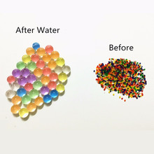 Toy Balls Crystal-Soil Water-Beads Magic-Jelly Pearl-Shaped Grow Kids Mud Children