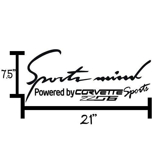 2X Multiple Color Sports Mind Power for Corvette 2005-2013 Vinyl Decal Sticker