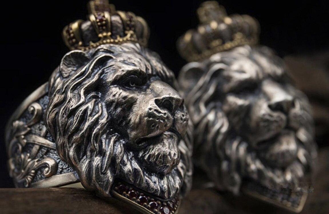 Bague Tête de Lion en acier | Rasta Lion