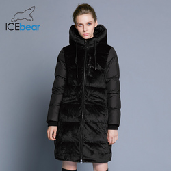 ICEbear 2019 Новинка бархатная куртка теплая зимняя куртка женская модная повседневная фирменная женская куртка GWD18080