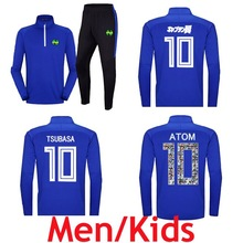 Soccer Tracksuit Jacket Captain Tsubasa Oliver Atom Survetements-De-Foot Blue Trousers