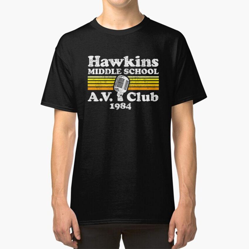 Gift Indiana TV Stranger Eleven Mike Hawkins Radio Club Mens T-Shirt