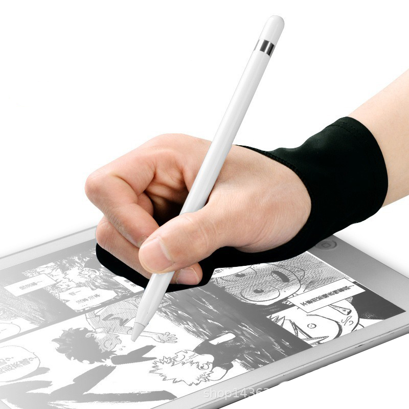 1Pc Anti-Fouling Two Finger Glove for Artist Drawing Pen Graphic Tablet Pad title=