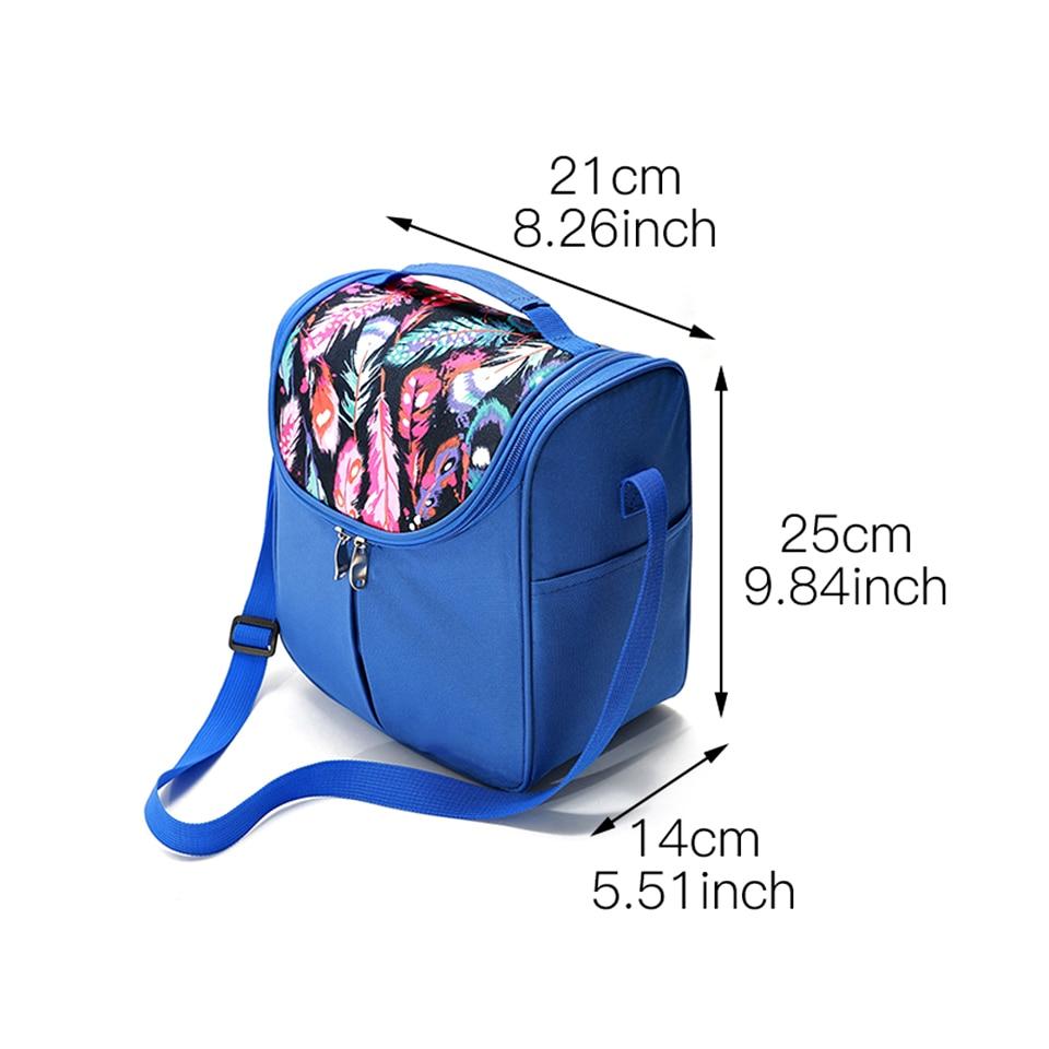 Flower Bolsa de almuerzo 10L Organizador Reutilizable Impermeable Bolsa de asas refrigerada Bolsa port/átil de aislamiento t/érmico Bento Contenedor de almuerzo para oficina escuela