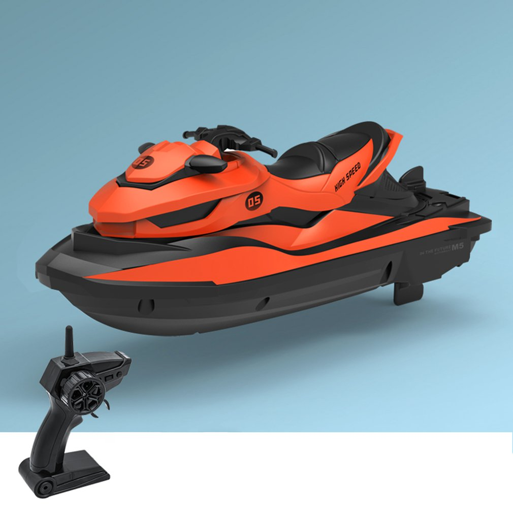 Transportation - 2.4G 4CH Mini RC High Speed Waverunner Motorcycle Model with Light Kids Robot RC Motorbike Toys