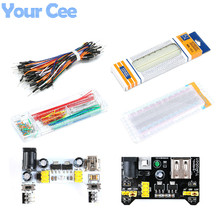 Power-Module MB102 Jumper-Wires Breadboard 140pcs with Box Solderless 830-Points Transparent