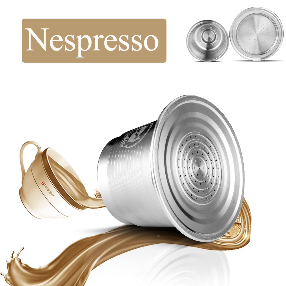 Coffee Capsule FILTER Espresso-Cup Tamper Refillable Coffee-Maker-Machine Stainless-Steel title=
