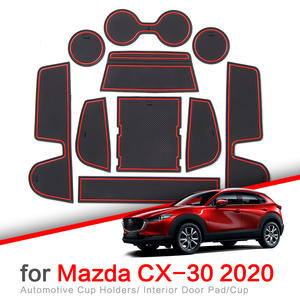 LAUTO Car Door Slot Pad Anti-dust Interior Cup Mats emulsion car interior Non-Slip Mats Suitable for 2020 Mazda CX-30 11PCS//Set Gate Slot Storage Mats Cup Holder Pad Non Slip Mats,Red