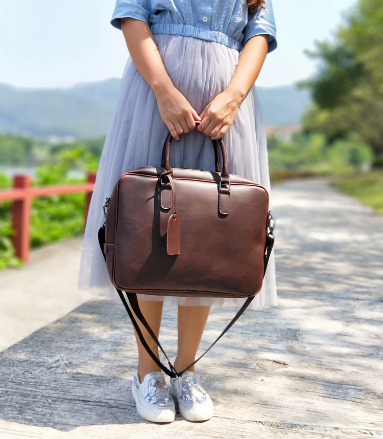 women leather briefcase  (2)