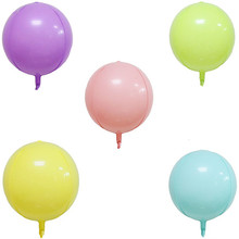 4D 22 Inch Round Macaroon Series Carnival Aluminum Foil Balloon Birthday Party Wedding Decoration
