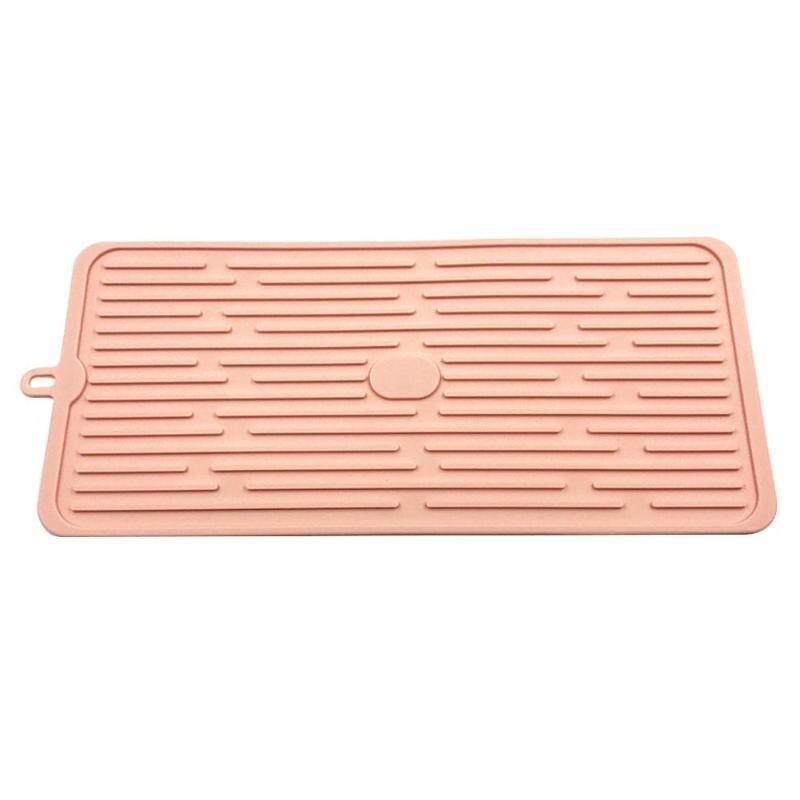 Antideslizante//Resistente Al Calor//Plegable Negro//Gris fervortop Estera Secado Cocina Silicona Escurreplatos Almohadilla Drenaje Vajilla Grande 30 x 40cm