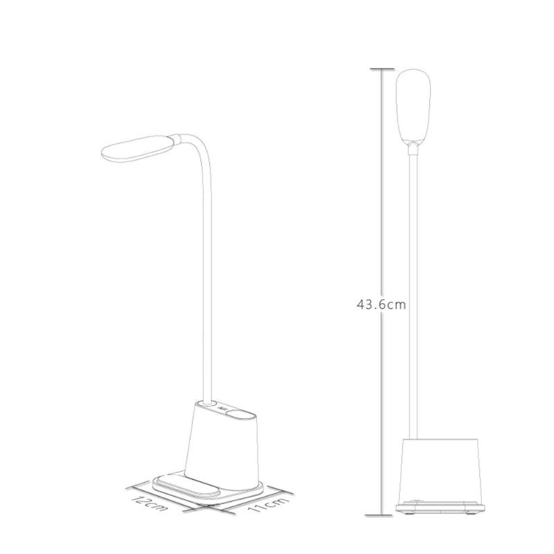 Lamp - Multifunctional LED Touch Desk Lamp USB Rechargeable Bedroom Table Light Touch Dimming Adjustment Table Lamp