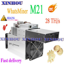 BTC BCH Miner WhatsMiner M21 28T bitcoin asic miner With PSU better than M3 M3X M20s
