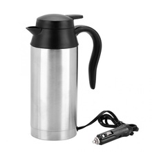 Kettle Water-Heater-Bottle Electric-Heating-Cup Travel Stainless-Steel Coffee 24V 750ml