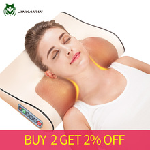 Shiatsu-Massager-Device Electric-Massage-Pillow Cervical Massageador Relaxation Heating