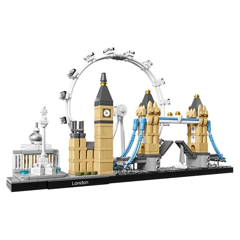 Legoing City Creator Street View Series London Classic Architecture Building Blocks Compatible Legoeds Creators House Model Toys