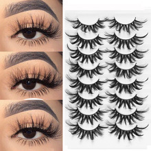 False-Eyelashes Extension Dramatic-Volume 3d Mink Fluffy Handmade LEKGAVD Cruelty-Free
