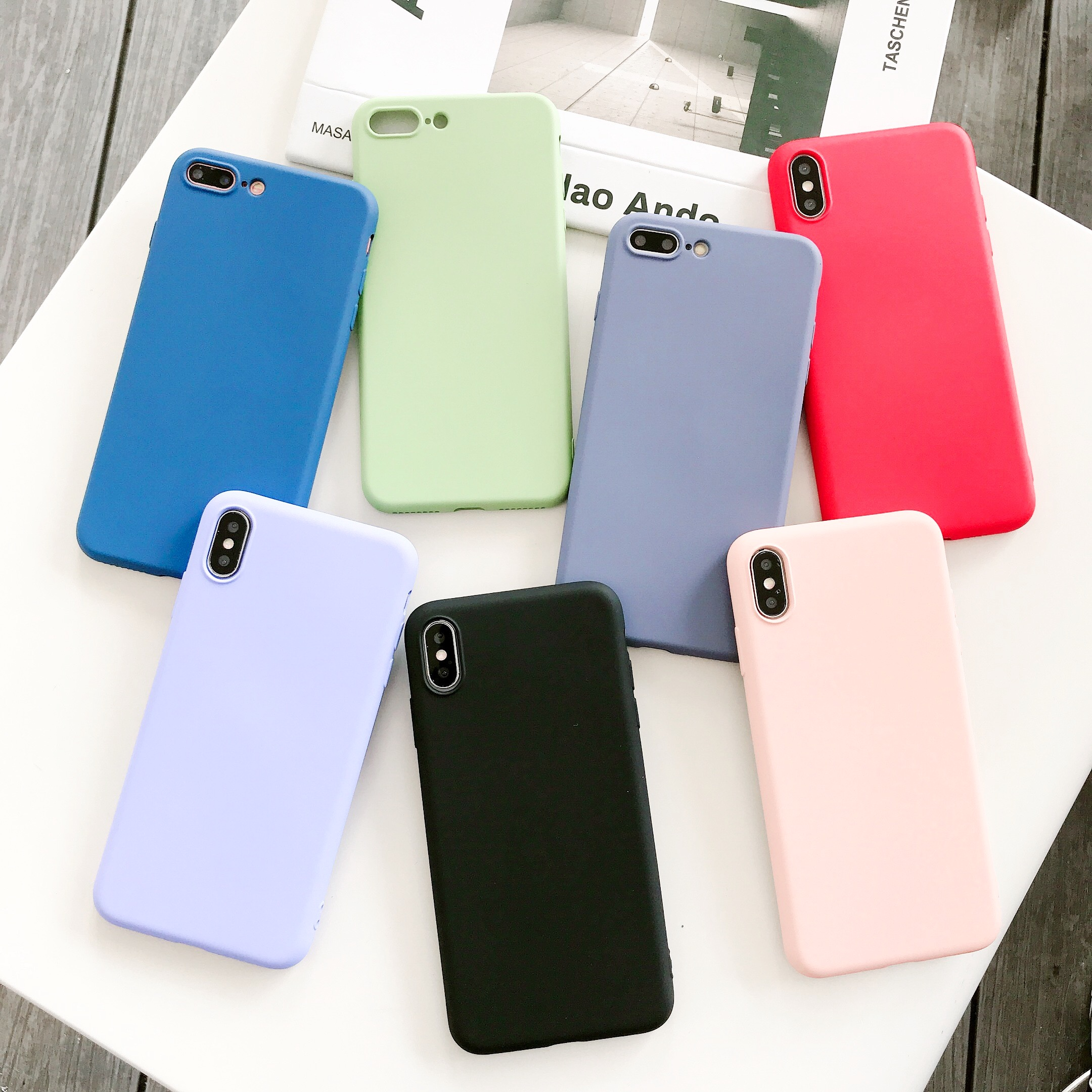 coque iphone xr silicone colorer