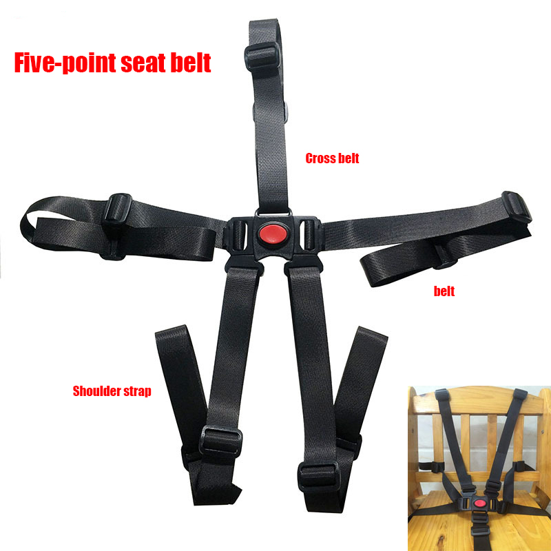 5Point Safety Baby Kids Harness Stroller High Chair Pram Car Belt-Strap