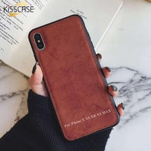 KISSCASE ткань ТПУ чехол для iPhone 7 Plus 6 6s 8 X XS MAX Capa XR 6Plus 8Plus