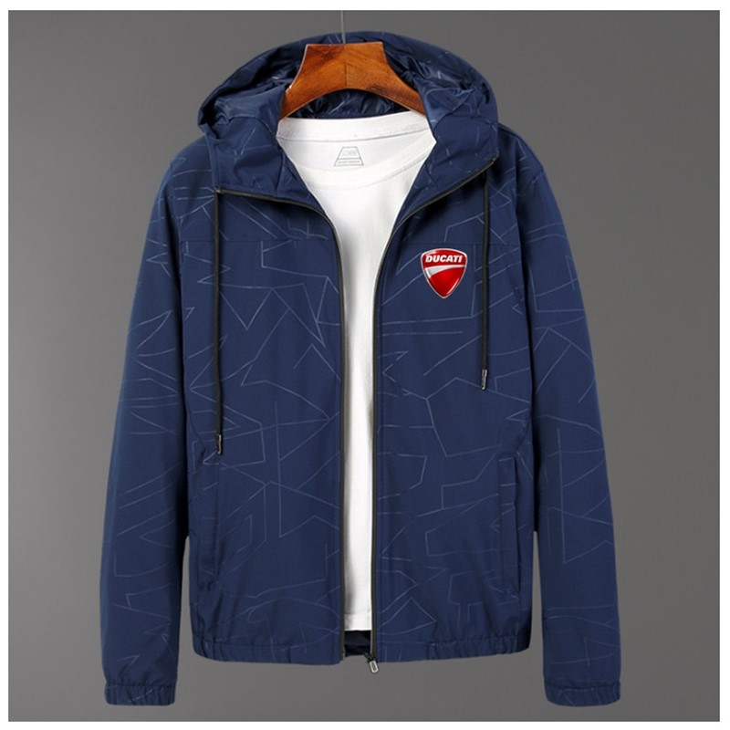 Fashion Zipper England Style Warm Fitness Hoodies Ducati LOGO Popular High Quality Comfortable Cardigan Wild Coat Fast delivery
