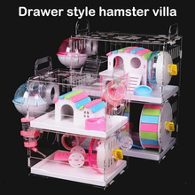 Pet-Cage Hamster House Guinea-Pig Transparent Acrylic Nest Toy-Supplies Villa The-Pipe