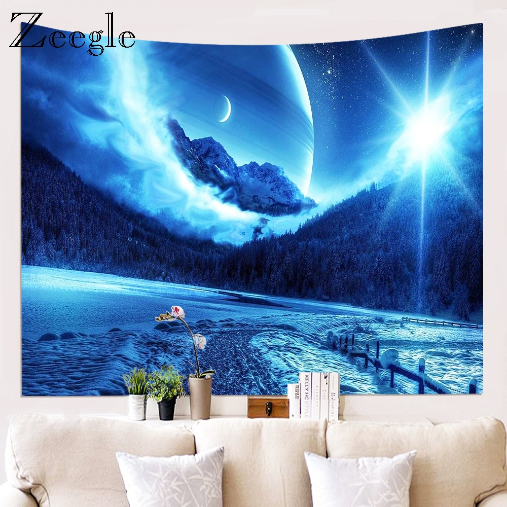 Zeegle Tapestries For Living Room Bedroom Hanging Creative Wall Tapestry Home Decor Yoga Beach Mat Picnic Blanket Bed Account