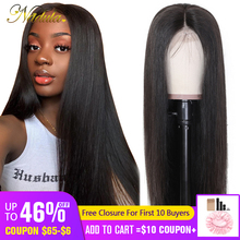 Nadula Pre Plucked Wigs Lace-Wig Human-Hair-Wigs Natural-Color Straight Brazilian 13--4/6