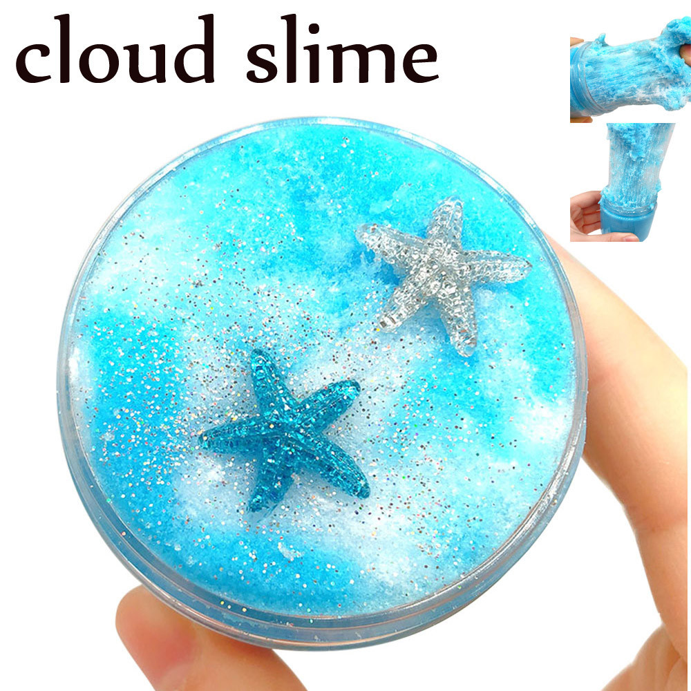 Stars Mud Mixing Cloud Slime Child Polymer Clay Toys Putty Scented Stress Kids Clay Toy slime toy for kids #B
