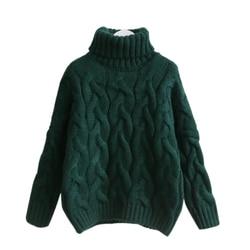 H. SA, женский свитер с высоким воротом, Осень-зима 2017, пуловер, европейский стиль, Повседневный, твист, теплый свитер, женский свитер большого ...