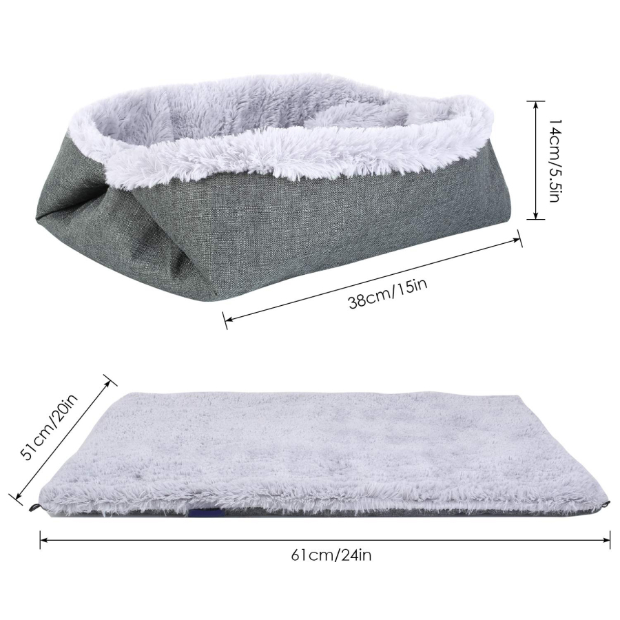 Rug - Warm Cat Bed Dog Bed Pet Bed Washable Soft Warm Cushion Dual-use Pad for Sleeping