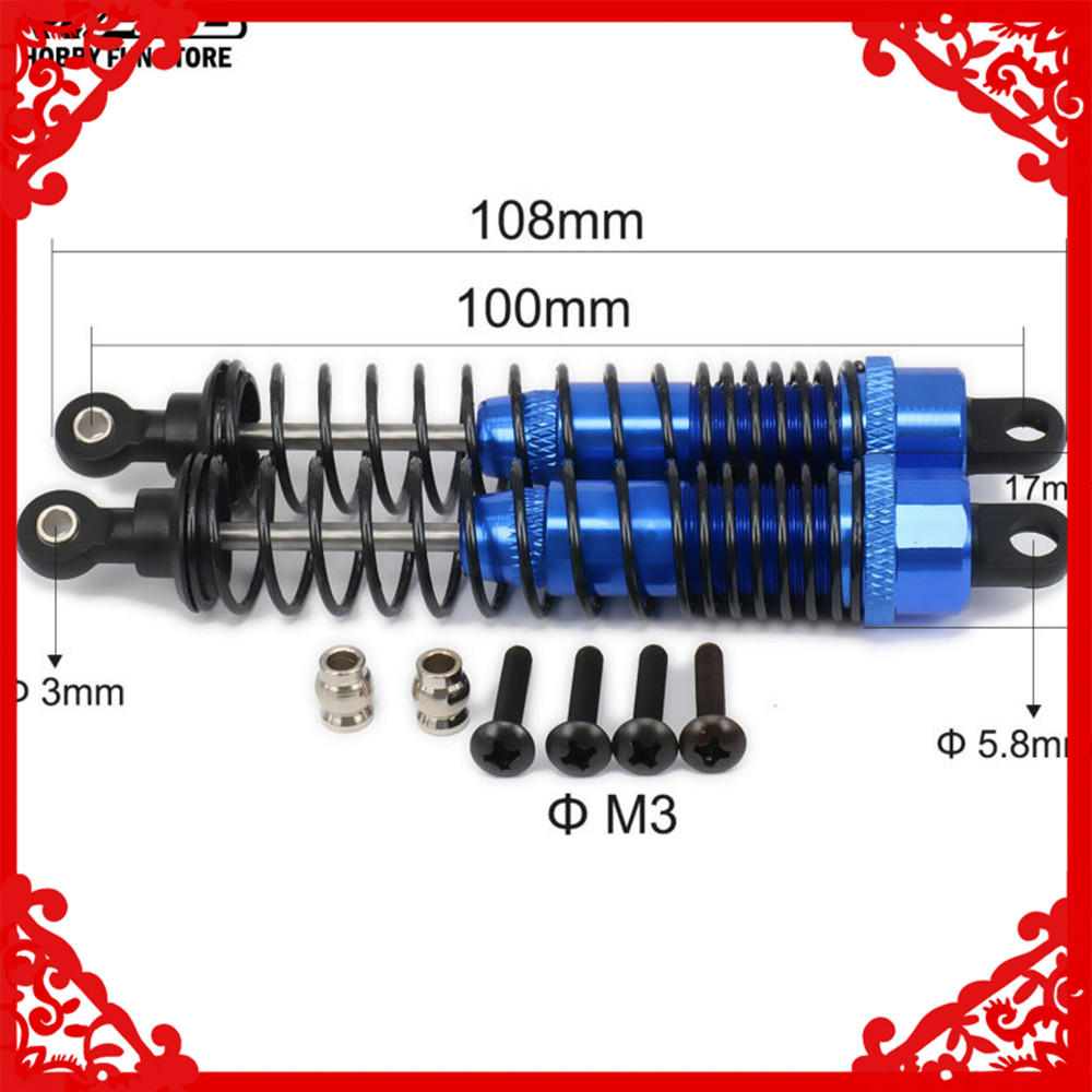 RC Car Alum Front Rear Shock Absorber For 1//10 Buggy Truck Truggy Traxxas Toy