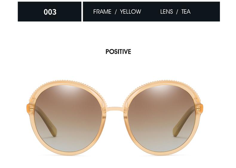 Women Sunglasses Frame Glasses Polariod Lens UV400 Polarized Sunglasses Women Fashion Round Frame Eyewear Glasses (28)