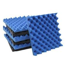 6 Pack Black + blue / Charcoal egg crate foam acoustic tiles soundproofing foam panels sound insulation soundproof foam padding(China)