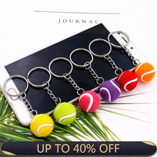 Ornaments Keychain Souvenirs Tennis-Ball Plastic Mini 2pcs Fans Pendant Key-Ring Small