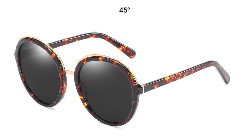 Women Sunglasses Frame Glasses Polariod Lens UV400 Polarized Sunglasses Women Fashion Round Frame Eyewear Glasses (27)