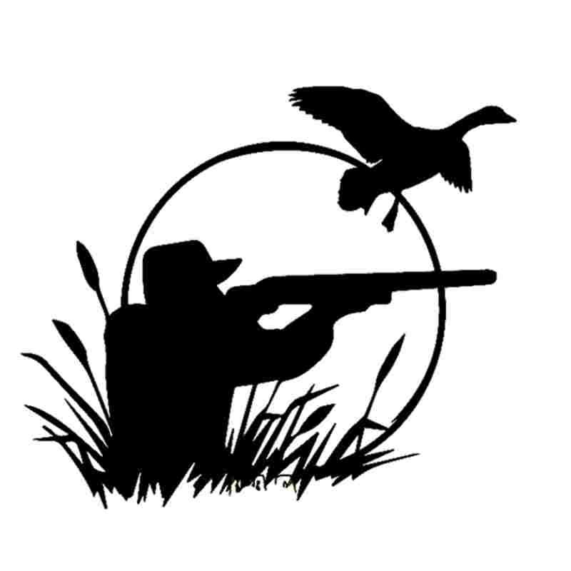 Pegatina Hunt Duck Decal Hunting Dog Shotgun Sticker Hollow Sticker Hunter Car Window Vinyl Decal Funny Poster Motorcycle