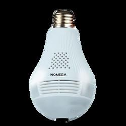 Светодиодный светильник INQMEGA, 360 градусов, 960P, беспроводной, панорамный, для домашней безопасности, WiFi, для видеонаблюдения, лампа рыбий глаз,...