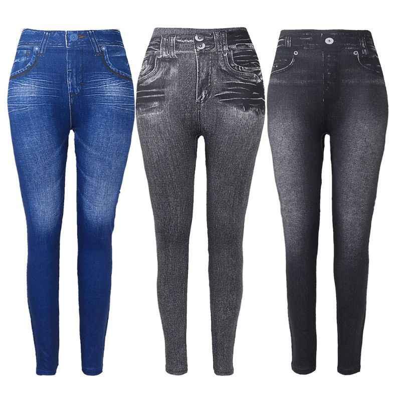 Pantalones Vaqueros de Invierno para Mujer Pantalones Ajustados Gruesos de Cintura Alta con Forro Polar Jeggings el/ásticos Delgados y c/álidos