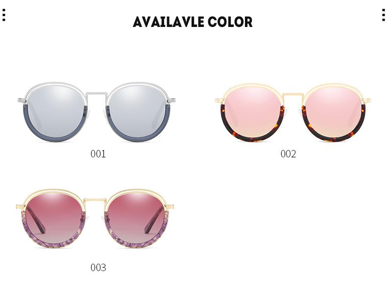 Sunglasses Women Vintage Round Sun Glasses Polarized Lens UV400 Anti Reflective Summer Polarized Women Snnglasses (18)