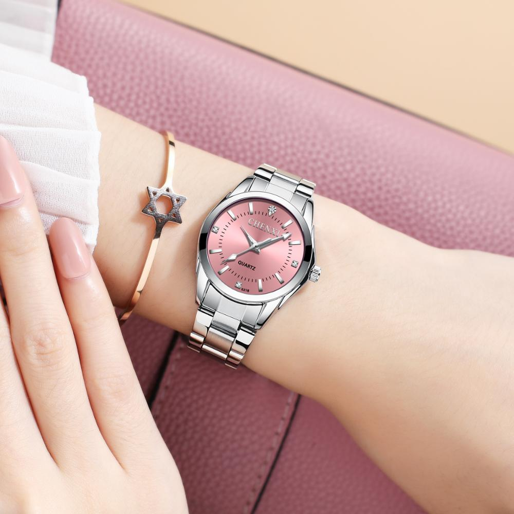 CHENXI Luxury Colorful Quartz Watch For Women Stylish Stainless Steel Waterproof Luminous Casual Dress Ladies Wristwatch