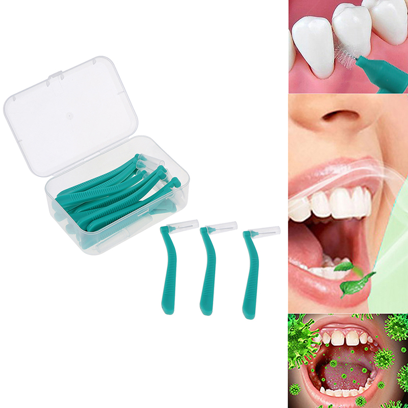 L Shape Push-Pull Interdental Brush 10/20Pcs Oral Care Teeth Whitening Dental Tooth Pick Tooth Orthodontic Toothpick ToothBrush