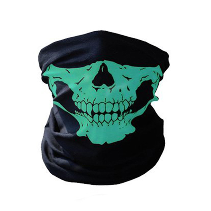 Scary-Mask Skull Neck Dustproof Halloween Winter Warm 3D Cap title=