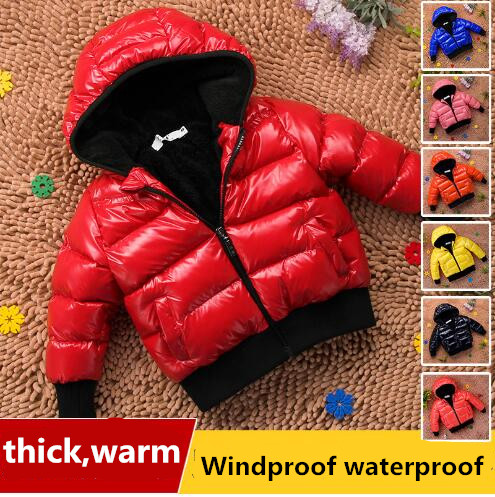 6605 New Boys Winter Coat Parka Kids Children Warm Hooded Long Jackets outerwear