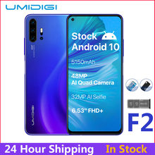 "UMIDIGI F2 Android 10 глобальная версия 6,53 ""FHD + 6 ГБ 128 ГБ 48MP AI Quad Camera 32MP Selfie Helio P70 мобильный телефон 5150mAh мобильный телефон(China)"