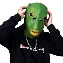 Sand-Mask Props Green-Heads Tiktok Funny Cute Man Monster Fish
